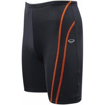 GRAND SPORT กางเกงว่ายน้ำชายขา 3 ส่วน (สีดำ-ส้ม)