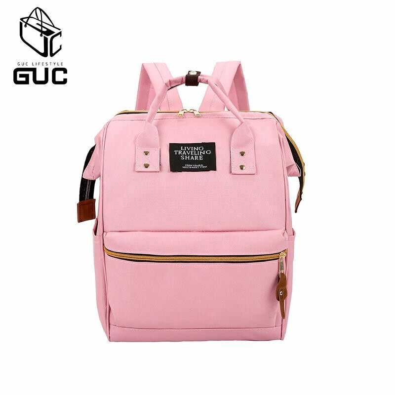 กระเป๋าเป้สะพายหลัง นักเรียน ผู้หญิง วัยรุ่น พิจิตร GUCกระเป๋าเป้ใบใหญ่LIVE TRAVEL GUC B122