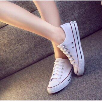 รองเท้าผ้าใบผู้หญิง รุ่นGw001(white)