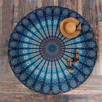 หาดปกขึ้นรอบผ้าห่มผ้าปูโต๊ะผ้าม่าน Hippy Boho ยิปซีจ้า