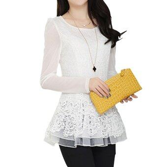 Han edition long sweet lace shirt
