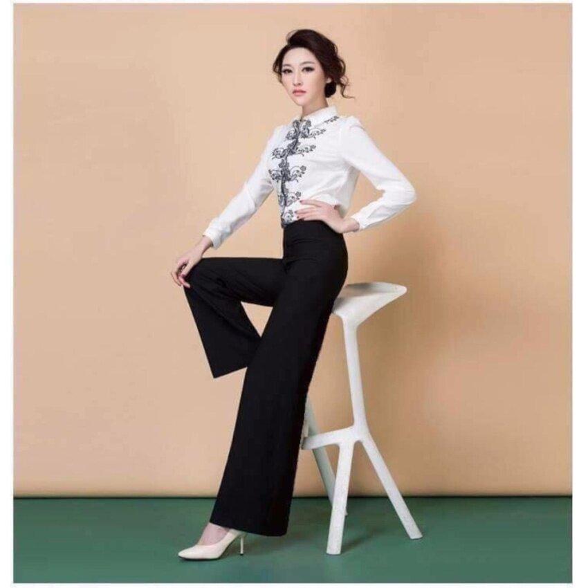HANAKOกางเกงผ้าฮานาโกะสวย หรู ดูแพงได้ กางเกงฮานาโกะแท้ 100%สีดำ สุดหรู