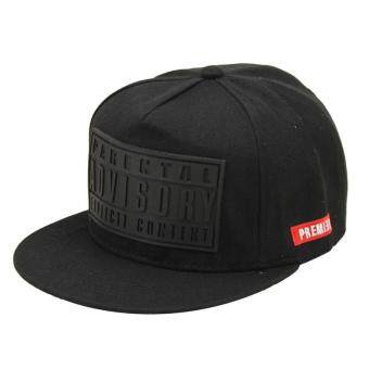 Hang-Qiao Couples Baseball Cap Letter Print Hip-hop Hats (Black) -intl