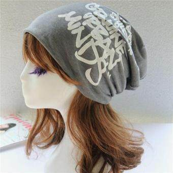Hang-Qiao Fashion Unisex Hat Men Women Hip-hop Skull Cap (DarkGrey) - intl