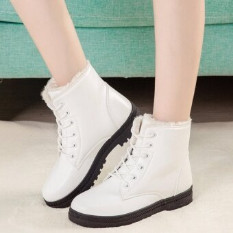 Hanyu Women's Snow Boots Martin Boots Outlets Waterproof LadisShoes(White Size 35) - intl - 3