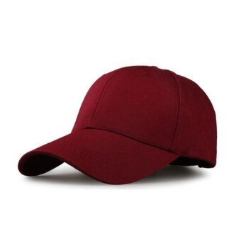 Hat Korean Flat Cap หมวกคลุมผมเกาหลี สีแดงเลือดนก หมวกแฟชั่นสีพื้นมีปีกด้านหน้า 1 ชิ้น