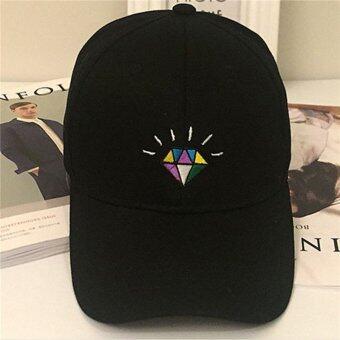HengSong ผู้หญิงคนใหม่ที่เป็นคนรักกีฬาเบสบอลหมวกผ้าหมวก Diamentเงาสีดำ