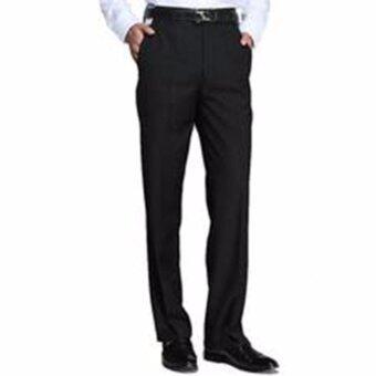 Hi-Class กางเกงสแล็ค ทำงานผู้ชาย กระบอกขาตรง สีดำ