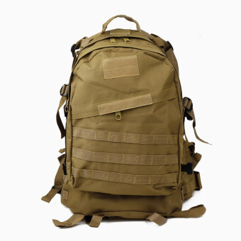 High Quality 3D Tactical Outdoor Double Shoulder Backpack Bag -Coyote Tan - Intl