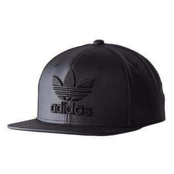 หมวก ADIDAS SNAPBACK สีดำ หนัง PU
