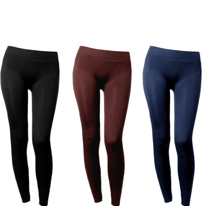 Hotdeal เลกกิ้ง นาโน ขายาว Legging Nano Colorful - สีดำ/น้ำตาล/กรม
