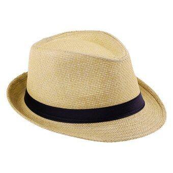 Hotdeal Panama Classic Hat หมวกปานามา - สีน้ำตาลอ่อน