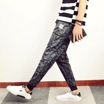 I เกาหลีผู้ชายนักศึกษา LOOESN ลำลองกางเกงฤดูใบไม้ร่วงกางเกง (เย็น 307)
