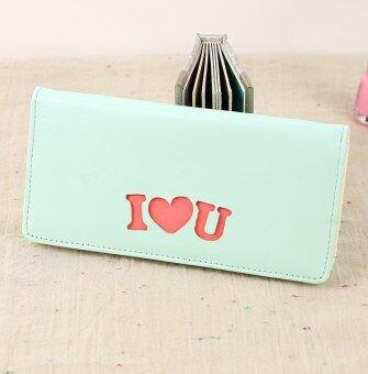 I Love Jianyue บ่อใหม่ภาษาอังกฤษกระเป๋าสตางค์ (ทะเลสาบสีฟ้า)
