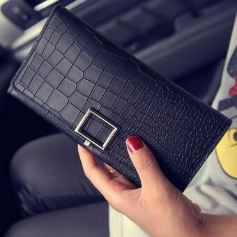 B'nana Beauty กระเป๋าสตางค์ใบยาว กระเป๋าเงินผู้หญิง กระเป๋าตังตามวันเกิด กระเป๋าสตางค์น่ารัก กระเป๋าตังสวยๆ รุ่น GC-05 (สีดำ)