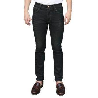 Golden Zebra Jeans กางเกงยีนส์ชายฟอกสนิมด่าง ขาเดฟสีดำลายหนวด