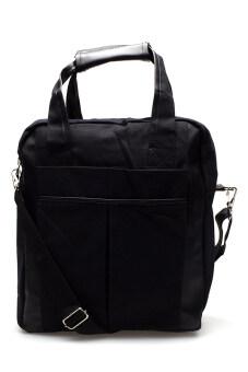 DM กระเป๋าสะพายพร้อมหูหิ้ว Canvas ( สีดำ )