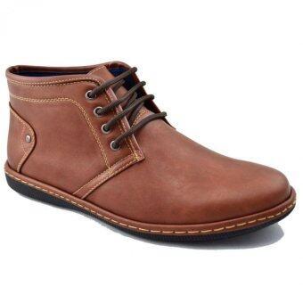 CSB รองเท้าหนังผู้ชาย หุ้มข้อ CSB รุ่น CM957 (สีน้ำตาล)