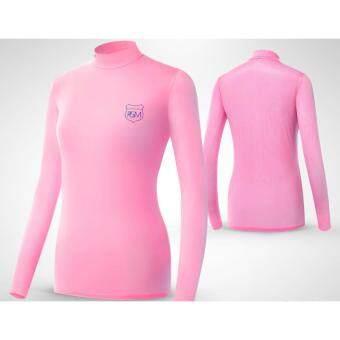 EXCEED เสื้อกอล์ฟผู้หญิงแขนยาว สีชมพู YF033 PGM LADY GOLF SHIRT ( PINK )