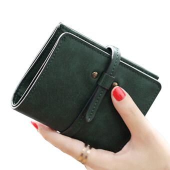 ลาวีมินิน่ารัก ๆ กระเป๋าสตางค์กระเป๋าถือกระเป๋าคลัตช์สั้นที่เก็บบัตรประชาชน (สีเขียว) (image 1)
