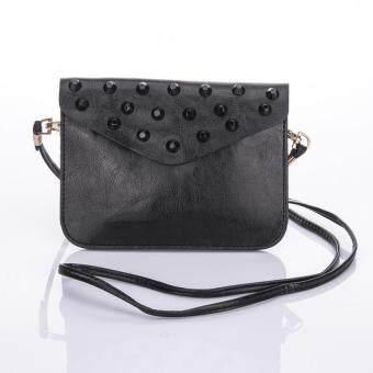 Premium Bag กระเป๋าแฟชั่น กระเป๋าสะพายข้าง รุ่น PB-009 (สีดำ)