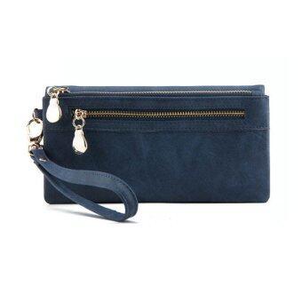 คุณสมบัติ Yingwei High Quality Ladies PU Leather Wallet Portable Purse Blue – intl