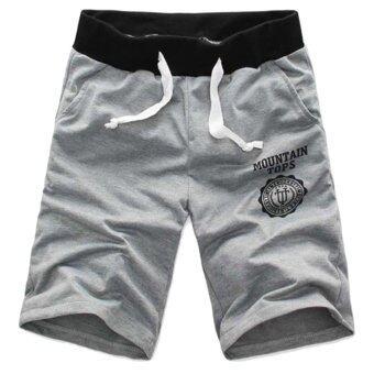 โอฤดูใหม่ห้าคนสวมกางเกงขาสั้นลำลองกีฬาชายหาด PantsWaistband ย่อยคลาสสิกสีเทา XXL-ระหว่างประเทศ