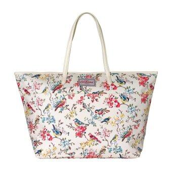 Cath Kidston กระเป๋าถือผู้หญิง Woman Fashion Canvas Waterproof bag Large Trimmed Tote bag