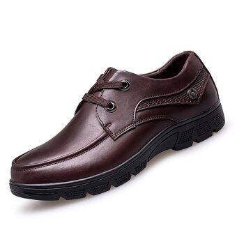 PINSV ขนาดใหญ่ 37.., 50 ธุรกิจรองเท้าหนังแท้ (สีน้ำตาล)