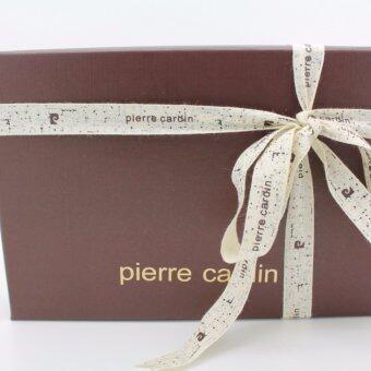 Pierre Cardin กิ๊ฟเซ็ทกระเป๋าธนบัตร+พวงกุญแจ GWC5-1623 สีน้ำตาล