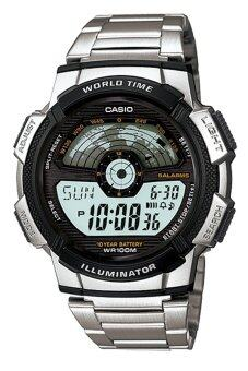 Casio Standard นาฬิกาข้อมือผู้ชาย สีเงิน สายแสตนเลส รุ่น AE-1100WD-1AVDF