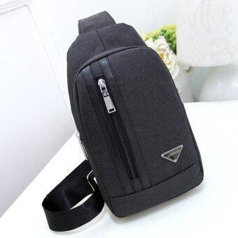 KPman กระเป๋าคาดอกผู้ชาย กระเป๋าคาดเอว กระเป๋าสะพายเฉียงผู้ชาย รุ่น LM-022 (สีดำ)
