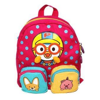Pororo กระเป๋าสะพายหลัง ลายเพนกวิน PR0172 (Pink)