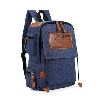 Marverlous กระเป๋าเป้สะพายหลัง กระเป๋าเป้เกาหลี Multi-กระเป๋า Backpack No.6043-Blue