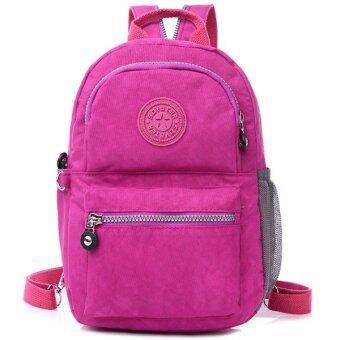 RICHCOCO กระเป๋าเป้สะพายหลัง Nylon leisure Backpack (Fuchsia)