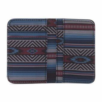 Vans กระเป๋าสตางค์ MOSLEY CARD HOLDER CANYON STRIPE-BLACK