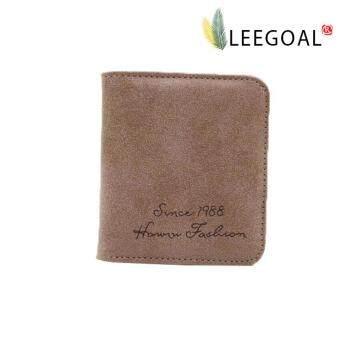 Leegoal สตรีกระเป๋าสตางค์เข็มขัดหนังสั้นเคลือบบัตรเงินเรโทร