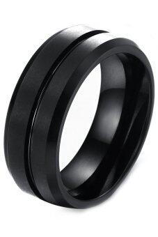 คนเหล็กทังสเตน Olen นิ้วแหวน (สีดำ)