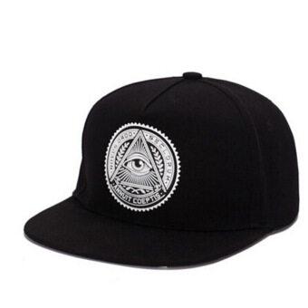 แฟชั่นหมวกกีฬากลางแจ้ง Hequ รูปแบบหมวกเบสบอลคนปรับได้ดวงตาสีดำ