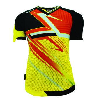 WARRIX SPORT เสื้อฟุตบอลพิมพ์ลาย WA-1501 สีเหลือง-ดำ