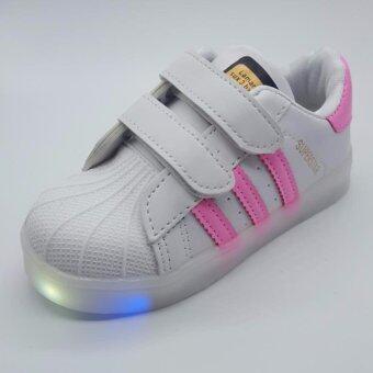 Alice shoe รองเท้าผ้าใบ แฟชั่นเด็กผู้ชาย และ เด็กผู้หญิง รุ่น SKL118-P (สีชมพู)