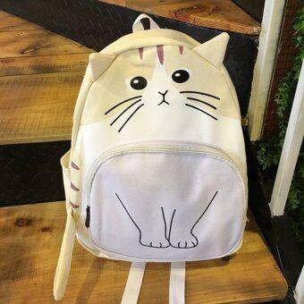 Little Bag กระเป๋าเป้สะพายหลัง กระเป๋าเป้เกาหลี กระเป๋าสะพายหลังผู้หญิง backpack women รุ่น LP-108 (สีขาว/ครีม)