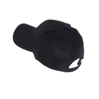 คนเก่งกีฬาโปโลแฟชั่นสไตล์หยงเพศหมวกหมวกแก๊ปเบสบอลวัสดุผ้าฝ้ายสีดำ