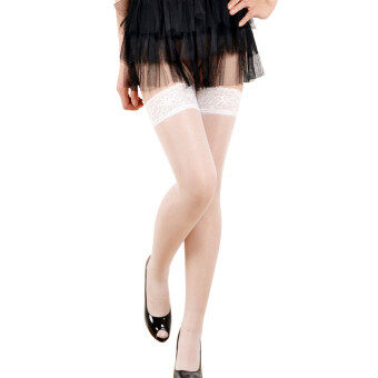 Harga New Womens Lace Top Stay Up Thigh High Stockings Nightclubs Pantyhose