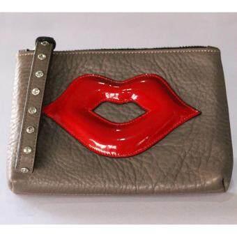 PINK PENNY'S Lip Diamond สีน้ำตาลเข้ม-ปากแดง