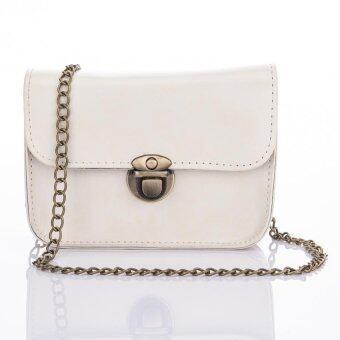 Premium Bag กระเป๋าแฟชั่น กระเป๋าสะพายข้าง รุ่น PB-003 (สีขาว)