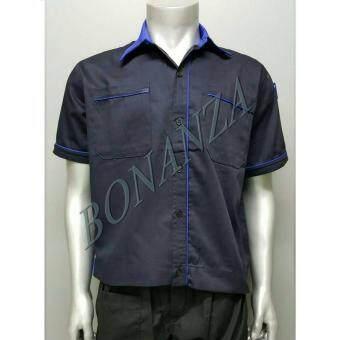 เสื้อคลุม ยูนิฟอร์ม เสื้อเชิ้ต (XXL) - สีกรมท่า/น้ำเงิน