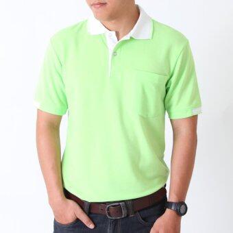 POLOMAKER เสื้อโปโล KanekoTK PK032 สีเขียวอ่อนปกขาว (Male)