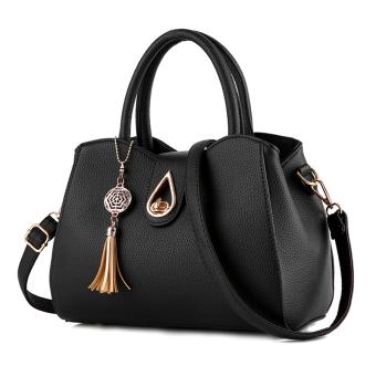 Little Bag กระเป๋าถือ กระเป๋าแฟชั่น กระเป๋าสะพายพาดลำตัว รุ่น LB-056 (สีดำ)