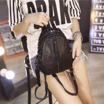 B'nana Beauty กระเป๋าเป้สะพายหลัง กระเป๋าเป้เกาหลี กระเป๋าสะพายหลังผู้หญิง backpack women รุ่น GB-19 (สีดำ)